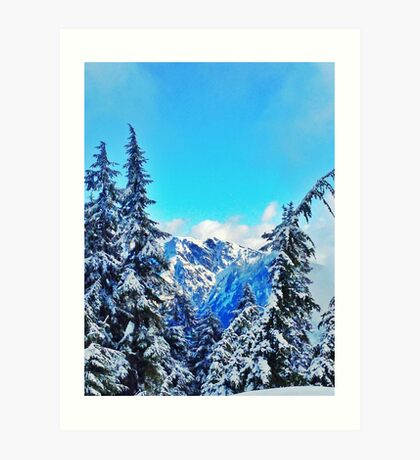 Blue Mountain Scene Art Print