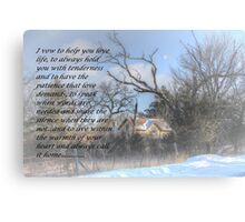 My Vow To You Canvas Print