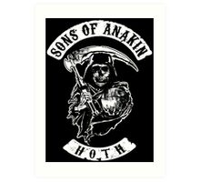 Sons of Anakin - starwars inspired biker patch Art Print