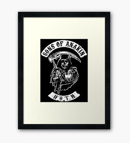 Sons of Anakin - starwars inspired biker patch Framed Print