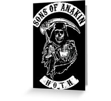 Sons of Anakin - starwars inspired biker patch Greeting Card