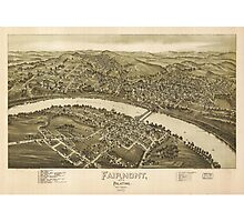 Map of Fairmont and Palatine West Virginia (1897) Photographic Print