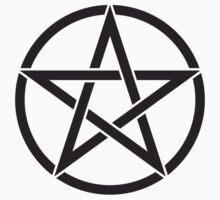 Black Pentagram One Piece - Short Sleeve