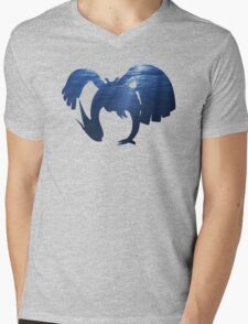 Lugia Underwater Silhouette Mens V-Neck T-Shirt