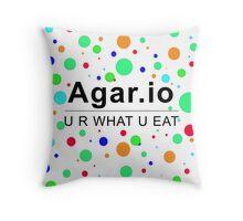 Agar.io U R WHAT U EAT Throw Pillow