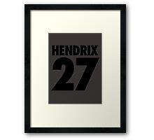 HENDRIX - 27 Framed Print