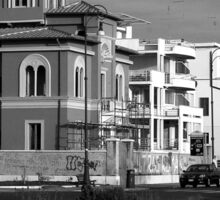 Ostia seafront: buildings Sticker