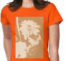 New Year wishes with the flower of Daisy 4 Womens Fitted T-Shirt