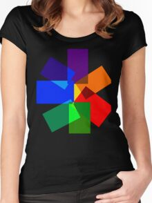 Seven-Sided Kaleidoscope  Women's Fitted Scoop T-Shirt