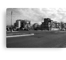 Ostia seafront: buildings Canvas Print