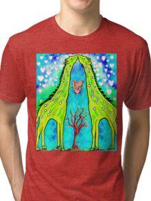 Giraffe Kisses Tri-blend T-Shirt