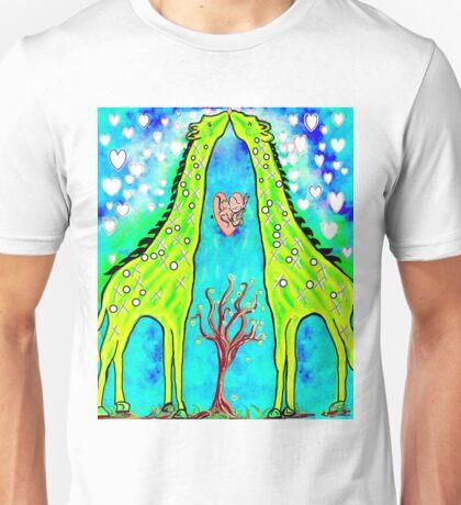 Giraffe Kisses Unisex T-Shirt