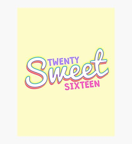 Twenty Sweet Sixteen (pink and purple edition) Photographic Print