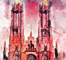 Gothic revival church in Zyrardow Sticker