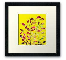 Red and Green Leaves! Yellow Sunshine! Framed Print