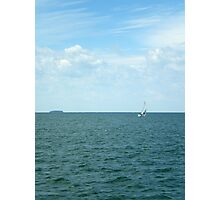 A Little Sail Boat Photographic Print