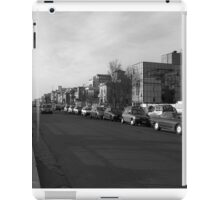 Ostia seafront: street view, buildings and cars iPad Case/Skin