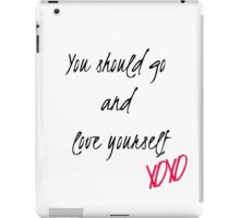 Love Yourself Lyrics  iPad Case/Skin