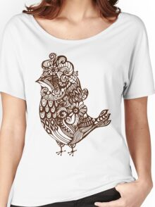 pattern birds  Women's Relaxed Fit T-Shirt