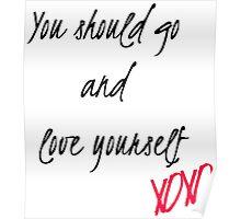 Love Yourself Lyrics  Poster