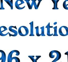New Year's 4k Sticker