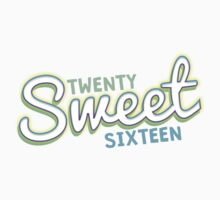 Twenty Sweet Sixteen (green & blue edition) Kids Tee