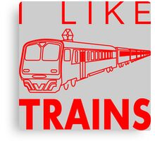 I like trains Canvas Print