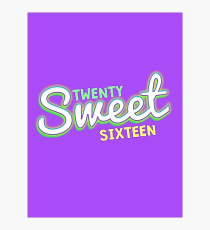 Twenty Sweet Sixteen ( Lime and Citron edition ) Photographic Print