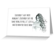 problems Greeting Card