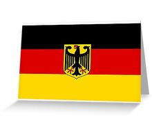 GERMANY, GERMAN, FLAG, Coat of arms of Germany, Common unofficial flag variant Greeting Card