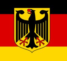 GERMANY, GERMAN, FLAG, Coat of arms of Germany, Common unofficial flag variant Sticker