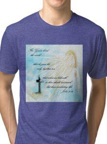 For God so Loved the World Tri-blend T-Shirt