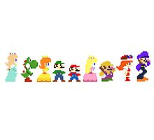 mario and the gang Photographic Print