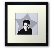 Celebrity Movie Star Keanu Reeves in Grey Tone Design Framed Print