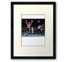 Carl Frampton Boxing World Champion Winner Framed Print