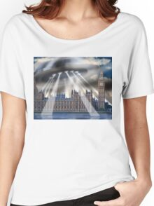 UFO Over London Women's Relaxed Fit T-Shirt
