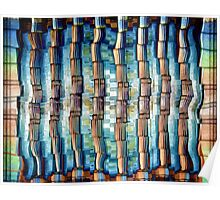 Abstract Architectural Pillars Poster