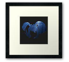 Lugia Underwater Silhouette Framed Print