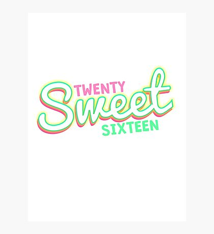 Twenty Sweet Sixteen (lime & pink edition) Photographic Print
