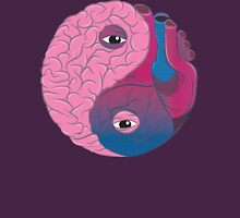 Yin Yang Brain Heart Unisex T-Shirt