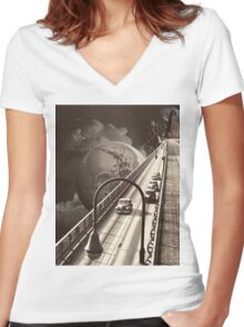 Lost Highway Women's Fitted V-Neck T-Shirt