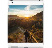 walking down to the sunset iPad Case/Skin