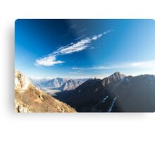 Autumn morning in the alps Metal Print