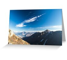 Autumn morning in the alps Greeting Card