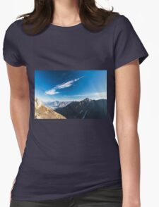 Autumn morning in the alps Womens Fitted T-Shirt