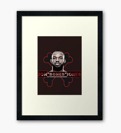 Jon Bones Jones UFC fighter Framed Print
