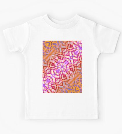 Fractal Art Stained Glass Kids Tee