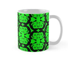 Audrey Black Green Pattern Mug