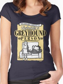 Greyhound Person Women's Fitted Scoop T-Shirt