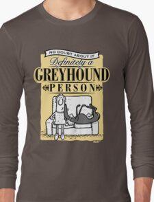 Greyhound Person Long Sleeve T-Shirt